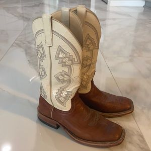 Anderson Bean square toe boot with Ariat insole